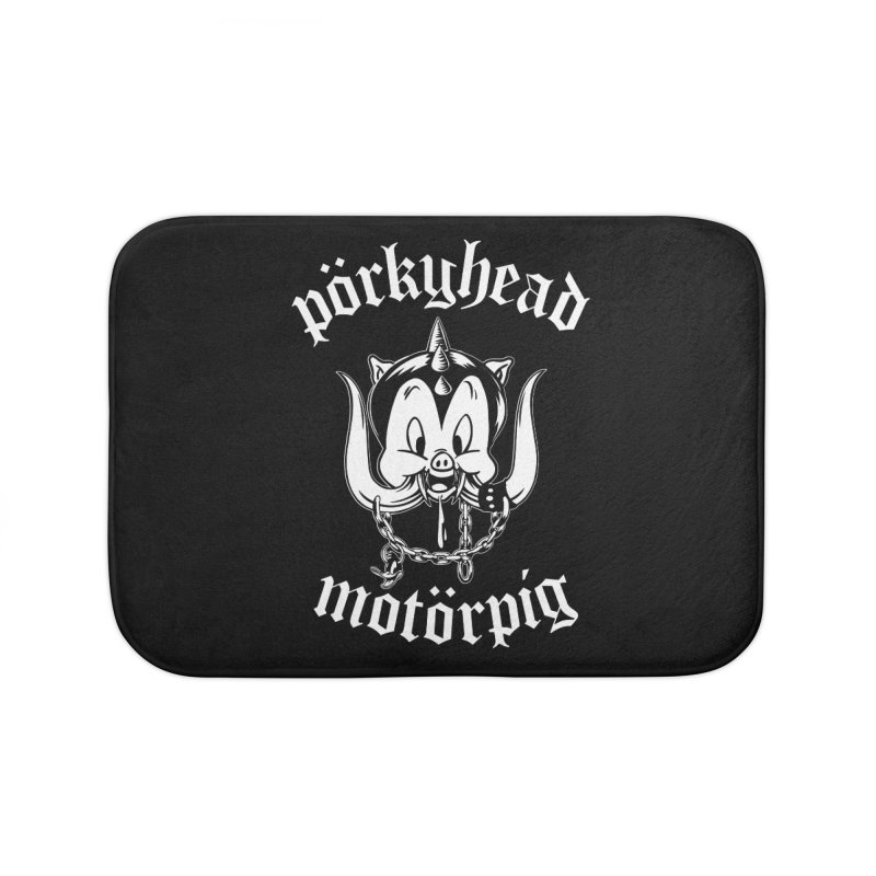 Pörkyhead Motörpig Home Bath Mat by SavageMonsters's Artist Shop