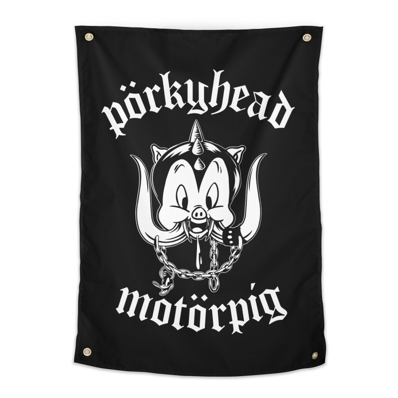 Pörkyhead Motörpig Home Tapestry by SavageMonsters's Artist Shop