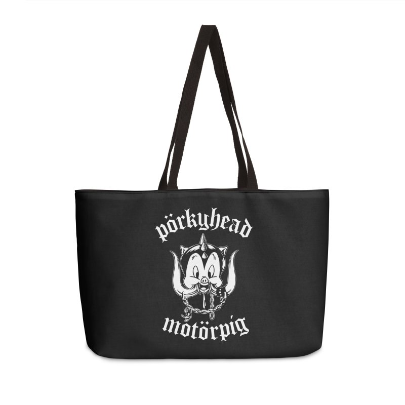 Pörkyhead Motörpig Accessories Weekender Bag Bag by SavageMonsters's Artist Shop
