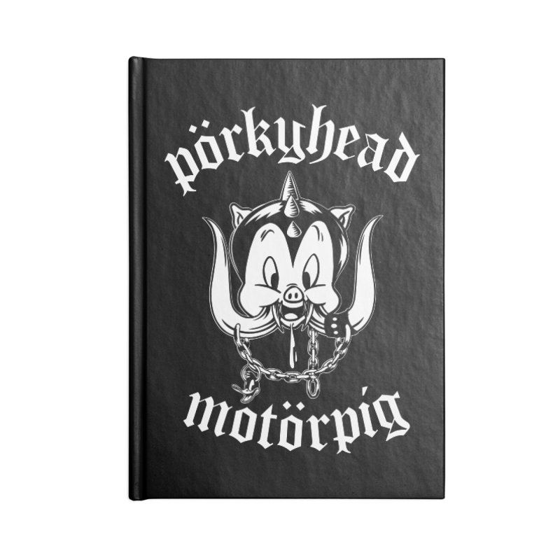 Pörkyhead Motörpig Accessories Lined Journal Notebook by SavageMonsters's Artist Shop