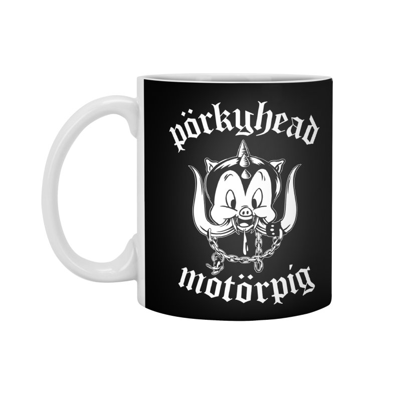 Pörkyhead Motörpig Accessories Standard Mug by SavageMonsters's Artist Shop