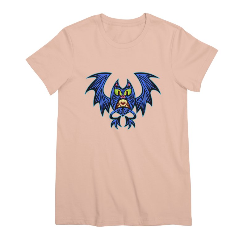 Screaming Bat Women's Premium T-Shirt by SavageMonsters's Artist Shop
