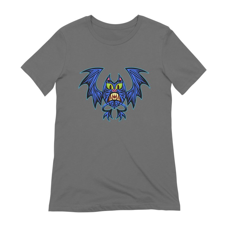 Screaming Bat Women's Extra Soft T-Shirt by SavageMonsters's Artist Shop