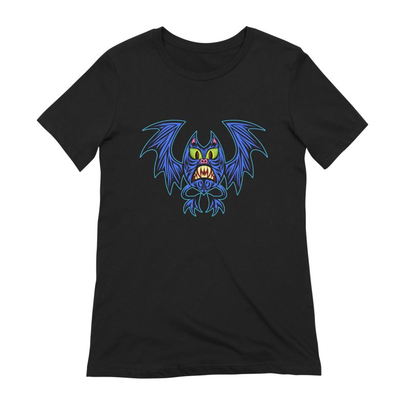 Screaming Bat Women's Extra Soft T-Shirt by SavageMonsters's Artist Shop