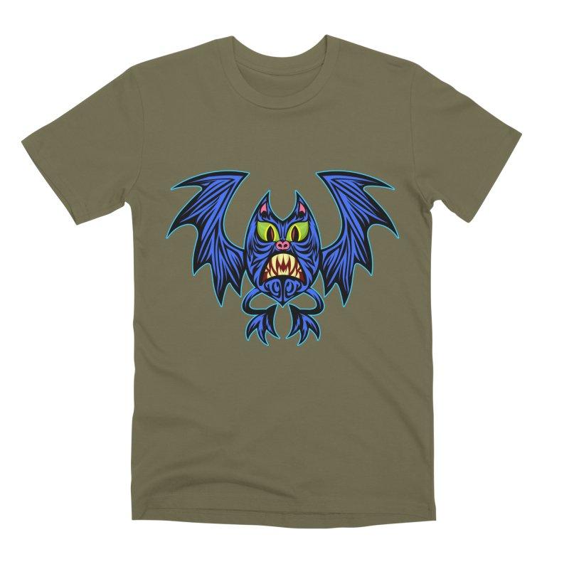 Screaming Bat Men's Premium T-Shirt by SavageMonsters's Artist Shop