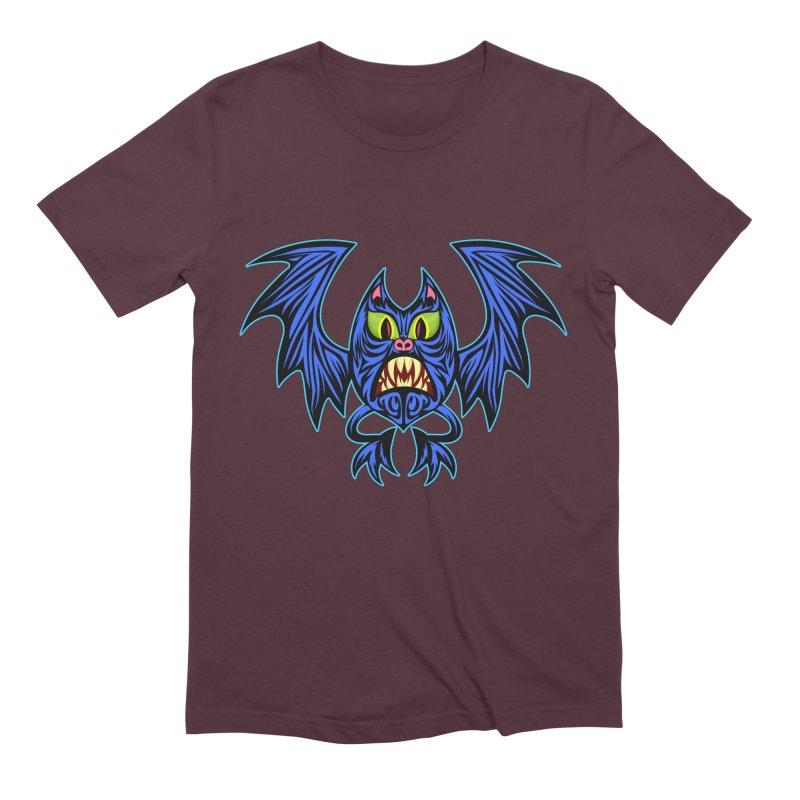 Screaming Bat Men's Extra Soft T-Shirt by SavageMonsters's Artist Shop