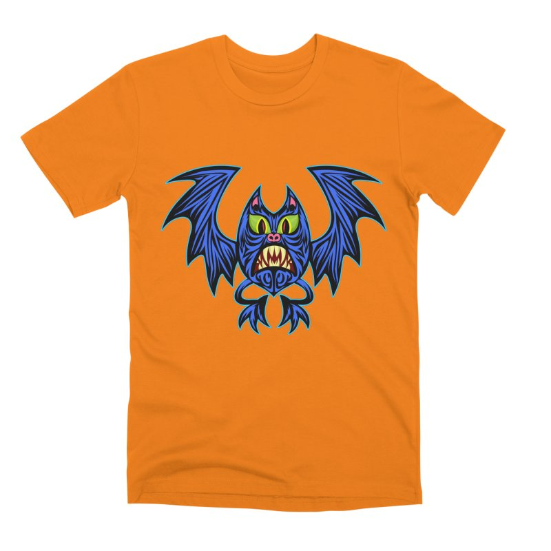 Screaming Bat Men's Premium T-Shirt by SavageMonsters's Artist Shop