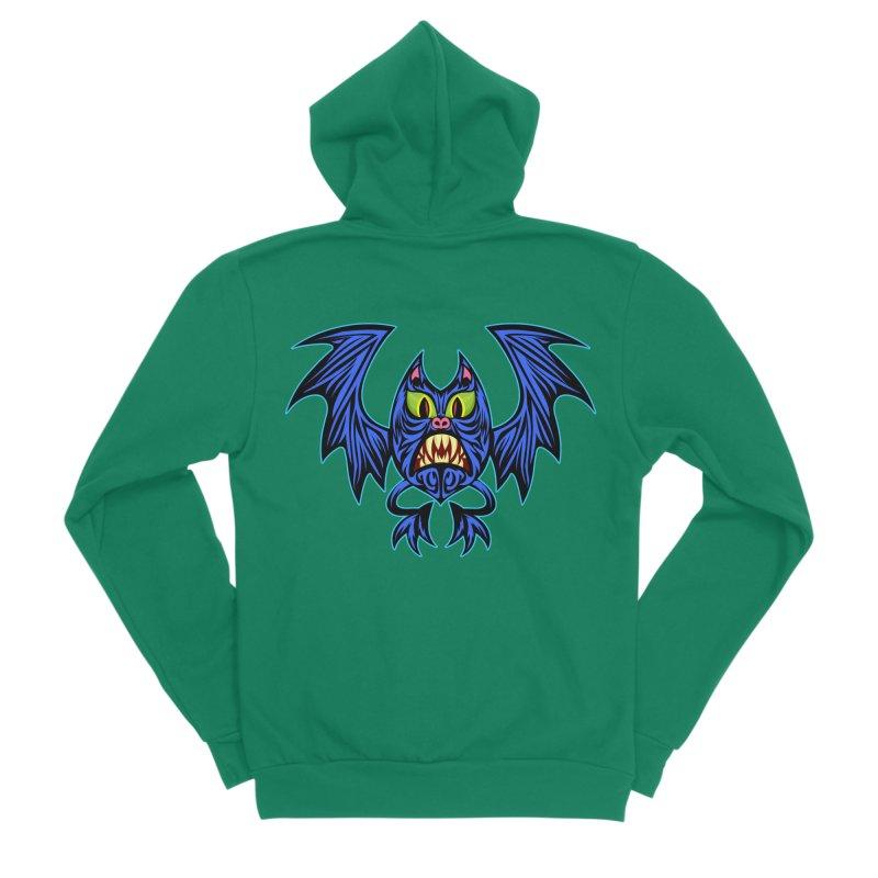 Screaming Bat Men's Sponge Fleece Zip-Up Hoody by SavageMonsters's Artist Shop