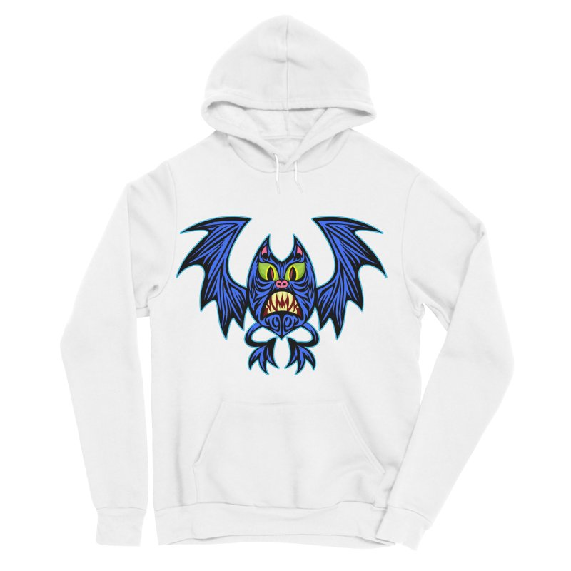 Screaming Bat Women's Sponge Fleece Pullover Hoody by SavageMonsters's Artist Shop