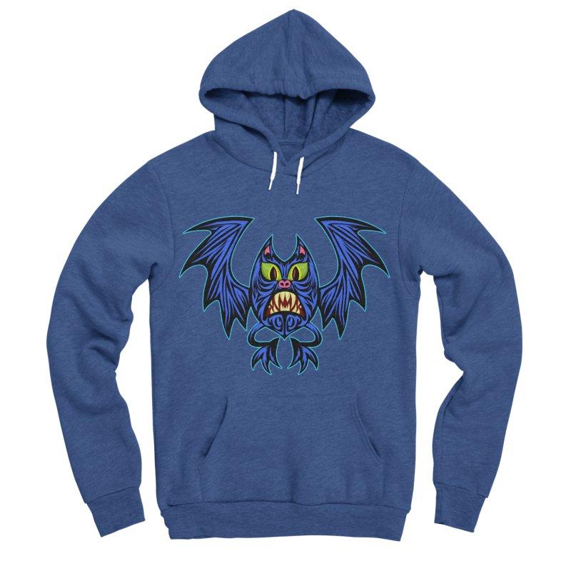 Screaming Bat Men's Sponge Fleece Pullover Hoody by SavageMonsters's Artist Shop