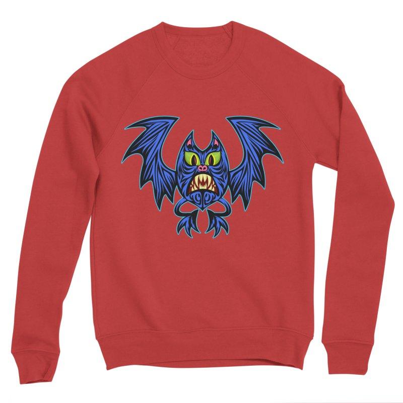 Screaming Bat Women's Sponge Fleece Sweatshirt by SavageMonsters's Artist Shop