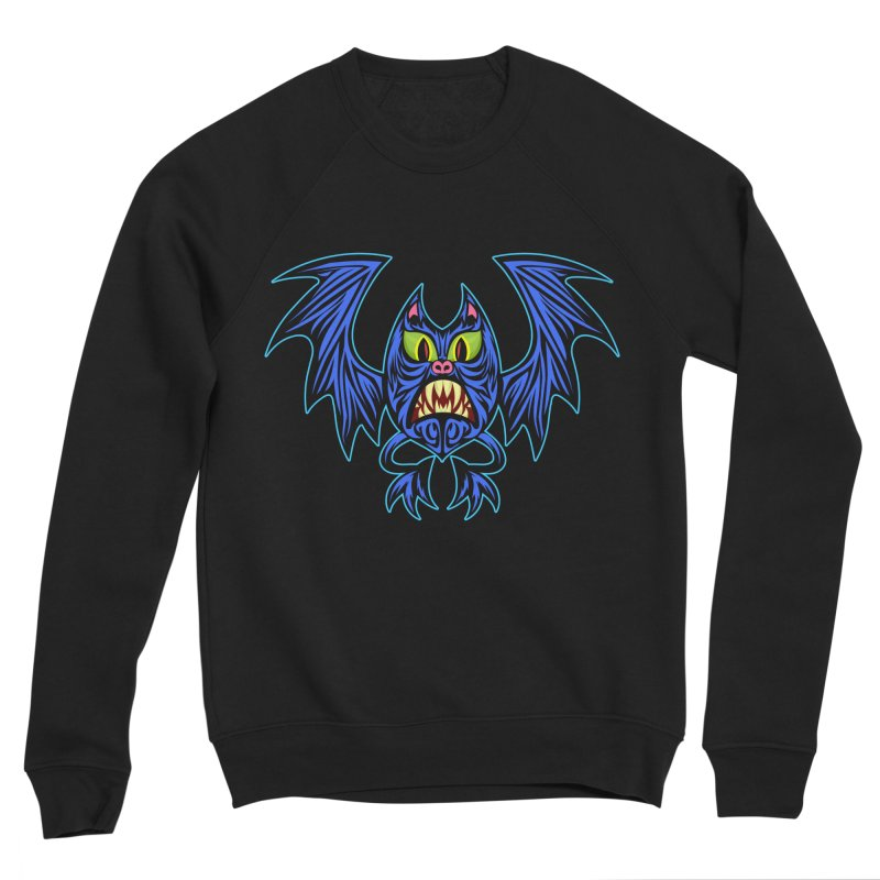 Screaming Bat Men's Sponge Fleece Sweatshirt by SavageMonsters's Artist Shop