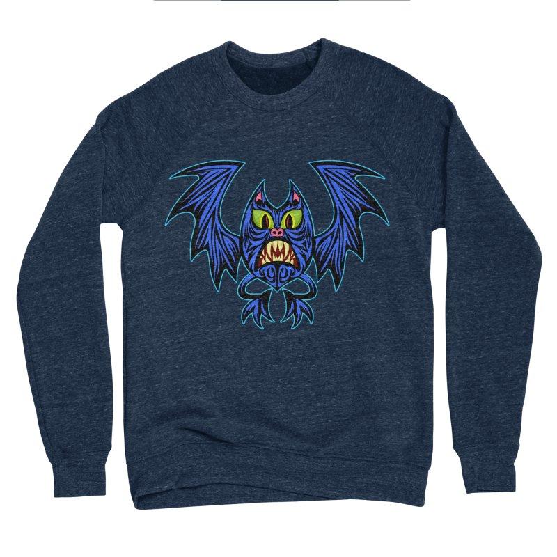Screaming Bat Men's Sponge Fleece Sweatshirt by SavageMonsters's Artist Shop