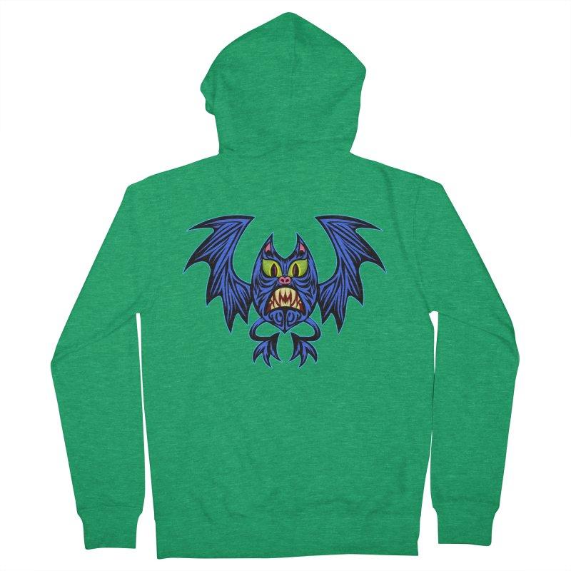 Screaming Bat Men's Zip-Up Hoody by SavageMonsters's Artist Shop
