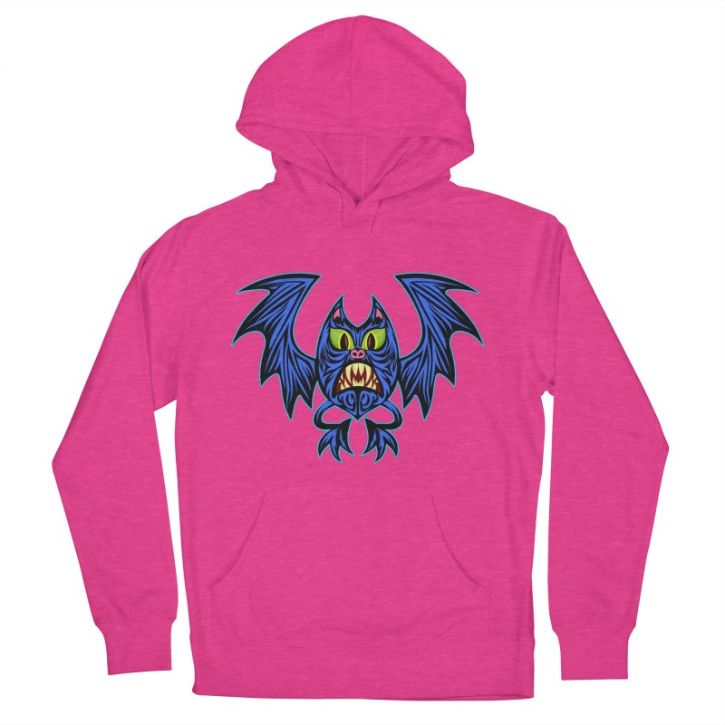 Screaming Bat Women's French Terry Pullover Hoody by SavageMonsters's Artist Shop