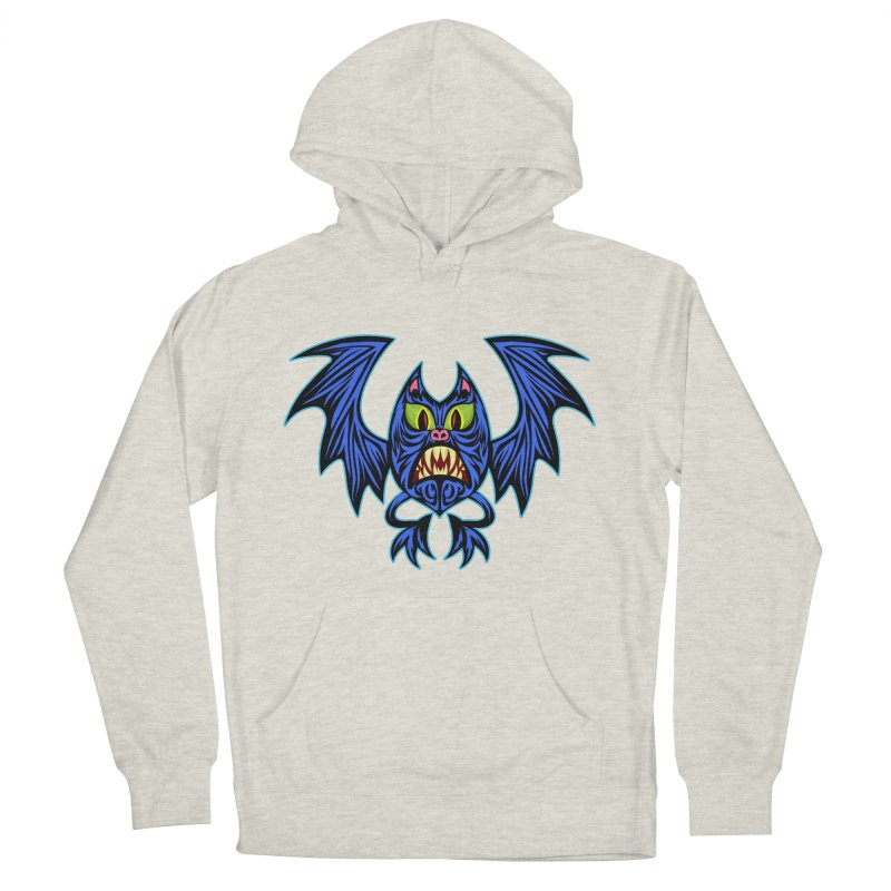 Screaming Bat Men's French Terry Pullover Hoody by SavageMonsters's Artist Shop