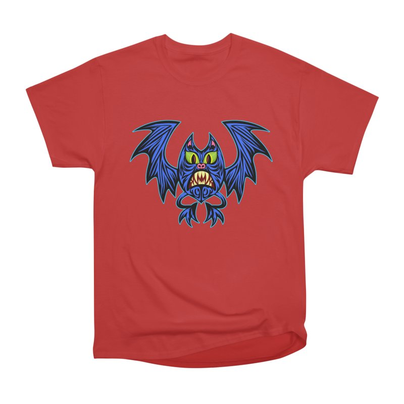 Screaming Bat Men's Heavyweight T-Shirt by SavageMonsters's Artist Shop