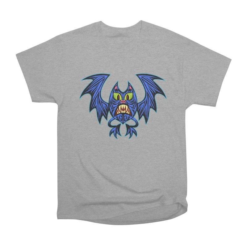 Screaming Bat Women's Heavyweight Unisex T-Shirt by SavageMonsters's Artist Shop