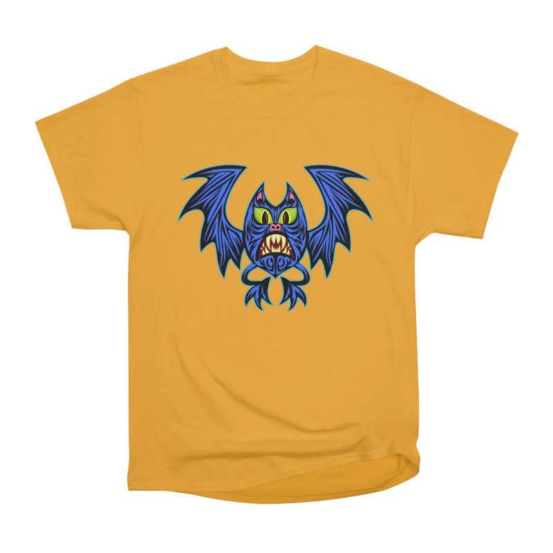 Screaming Bat Women's Heavyweight Unisex T-Shirt by SavageMonsters's Artist Shop