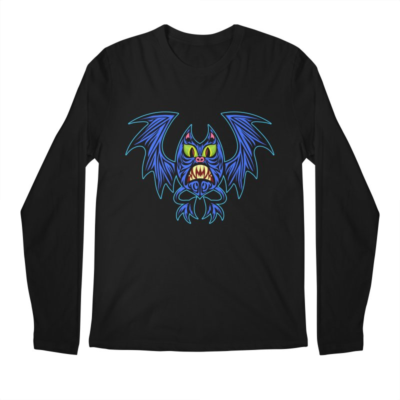 Screaming Bat Men's Regular Longsleeve T-Shirt by SavageMonsters's Artist Shop