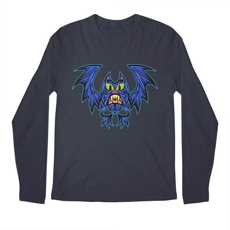 Screaming Bat Men's Regular Longsleeve T-Shirt by SavageMonsters's Artist Shop