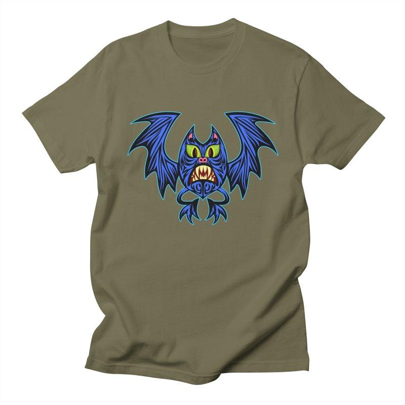 Screaming Bat Men's Regular T-Shirt by SavageMonsters's Artist Shop