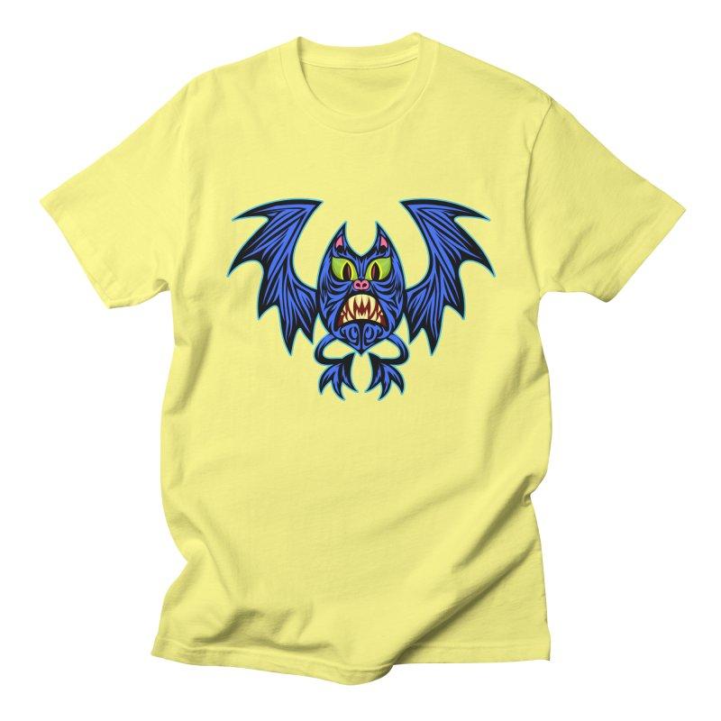 Screaming Bat Women's Regular Unisex T-Shirt by SavageMonsters's Artist Shop