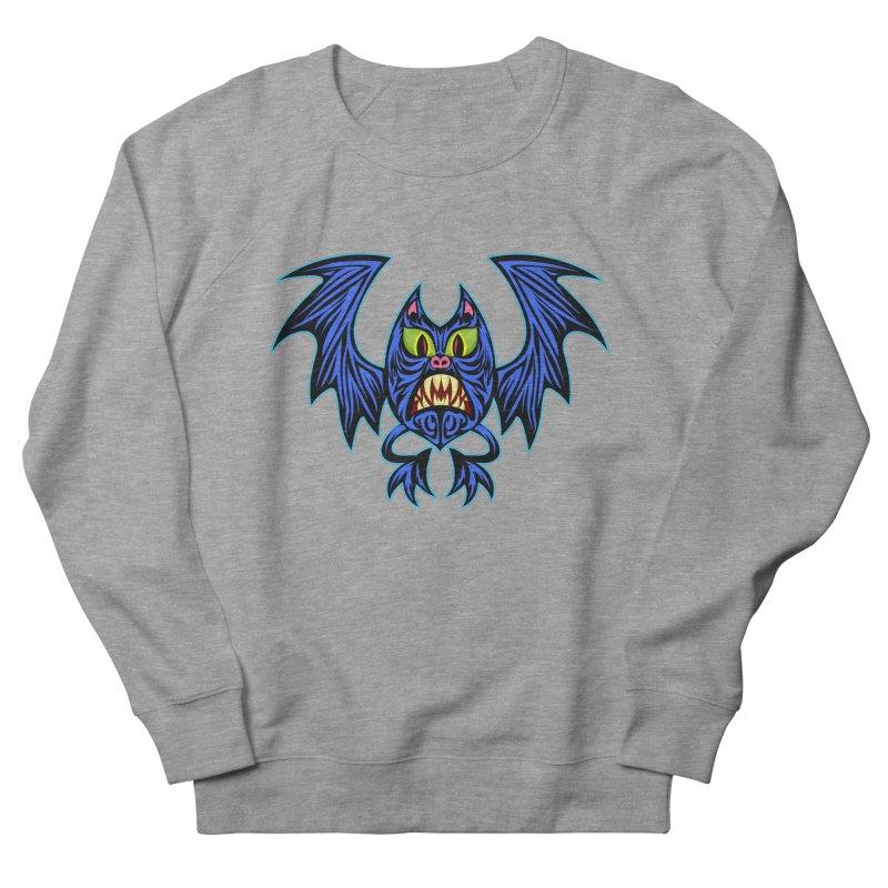 Screaming Bat Women's French Terry Sweatshirt by SavageMonsters's Artist Shop