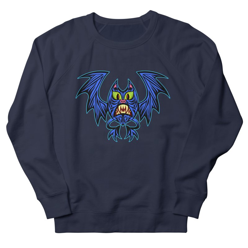 Screaming Bat Women's French Terry Sweatshirt by SavageMonsters's Artist Shop