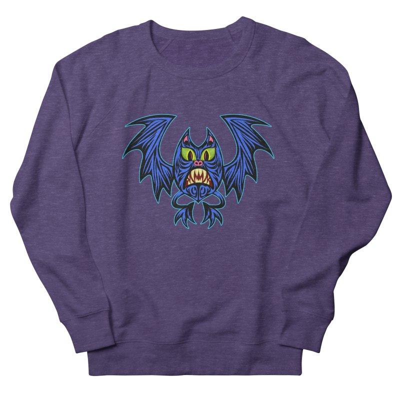 Screaming Bat Men's French Terry Sweatshirt by SavageMonsters's Artist Shop