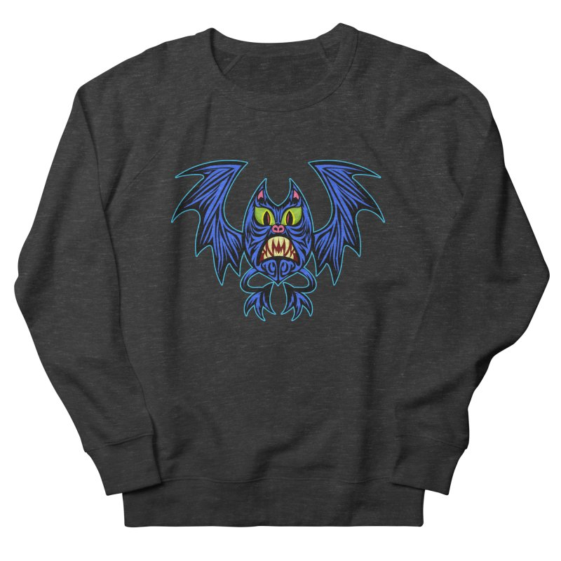 Screaming Bat Men's French Terry Sweatshirt by SavageMonsters's Artist Shop