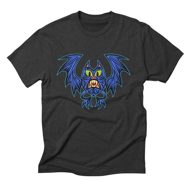 Screaming Bat Men's Triblend T-Shirt by SavageMonsters's Artist Shop