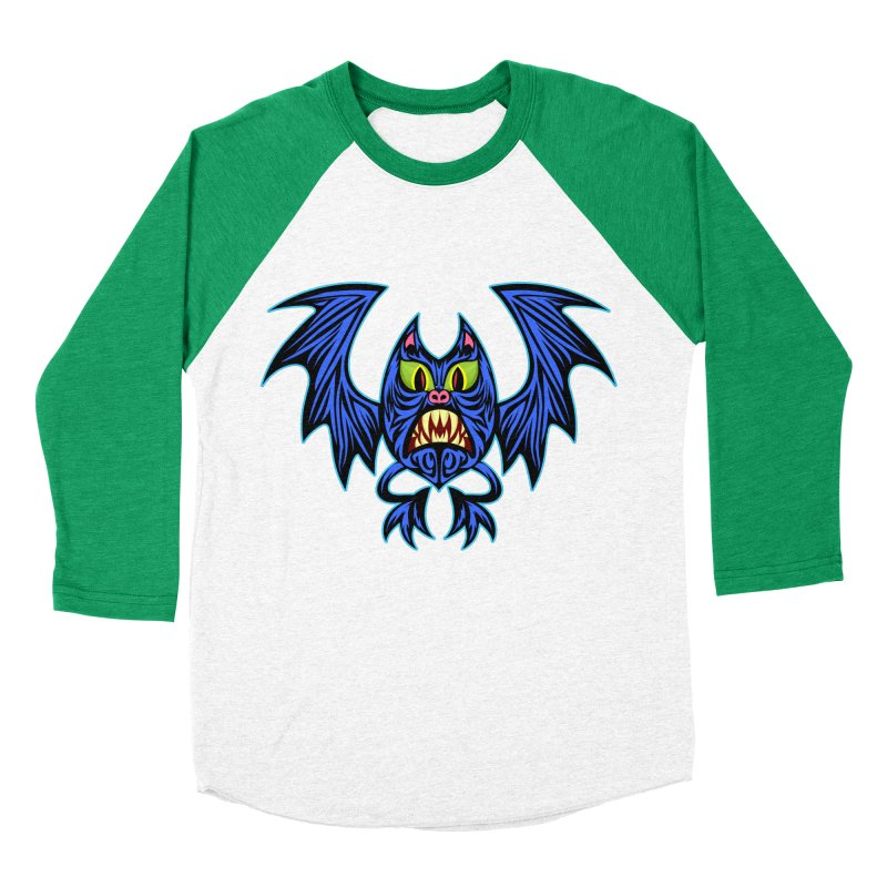 Screaming Bat Women's Baseball Triblend Longsleeve T-Shirt by SavageMonsters's Artist Shop