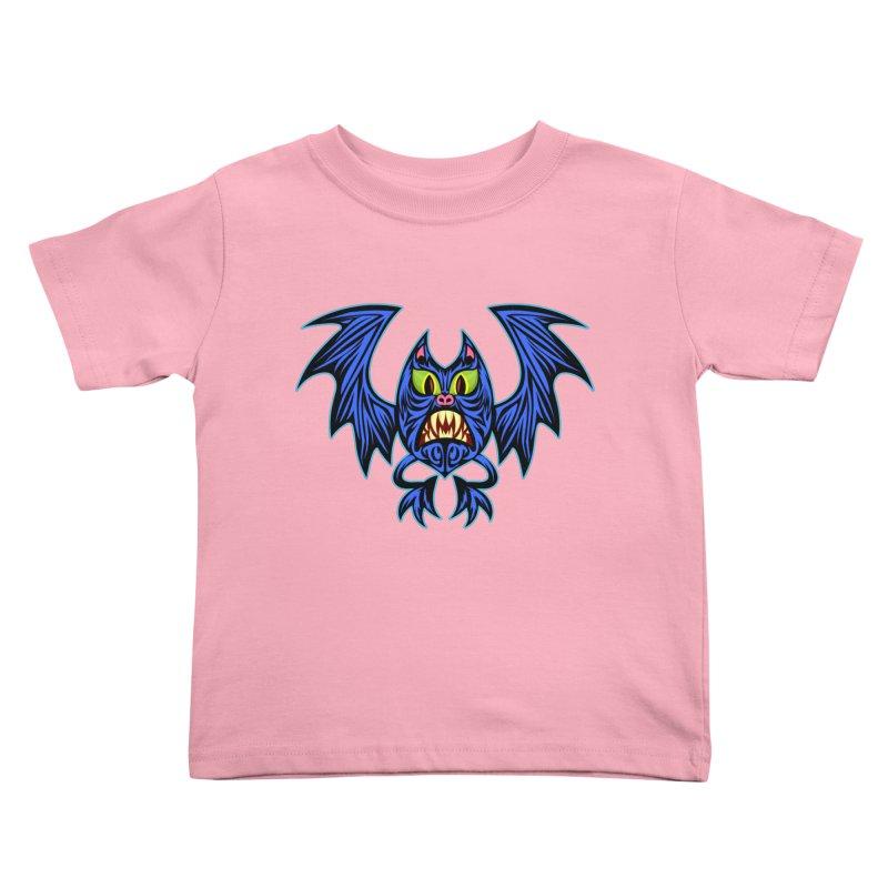 Screaming Bat Kids Toddler T-Shirt by SavageMonsters's Artist Shop