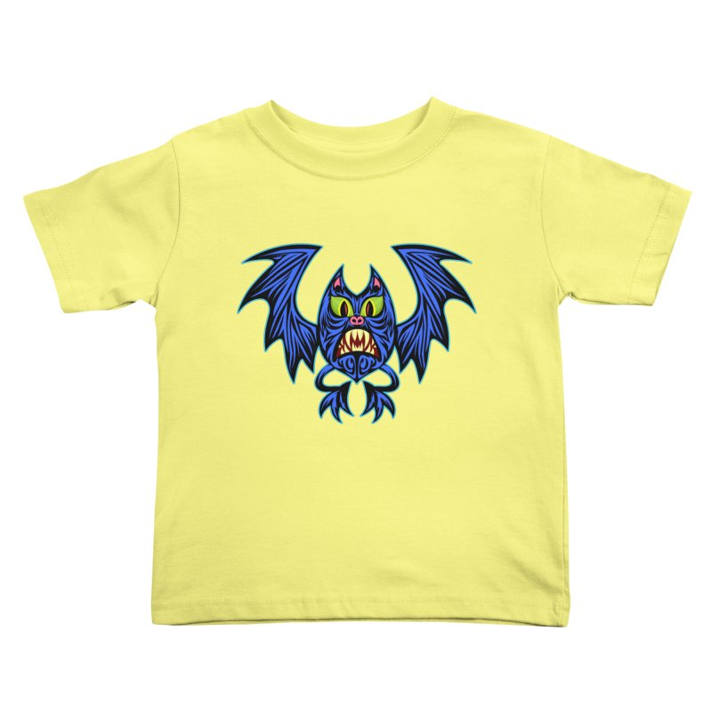 Screaming Bat Kids Toddler T-Shirt by SavageMonsters's Artist Shop