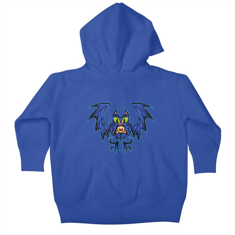 Screaming Bat Kids Baby Zip-Up Hoody by SavageMonsters's Artist Shop