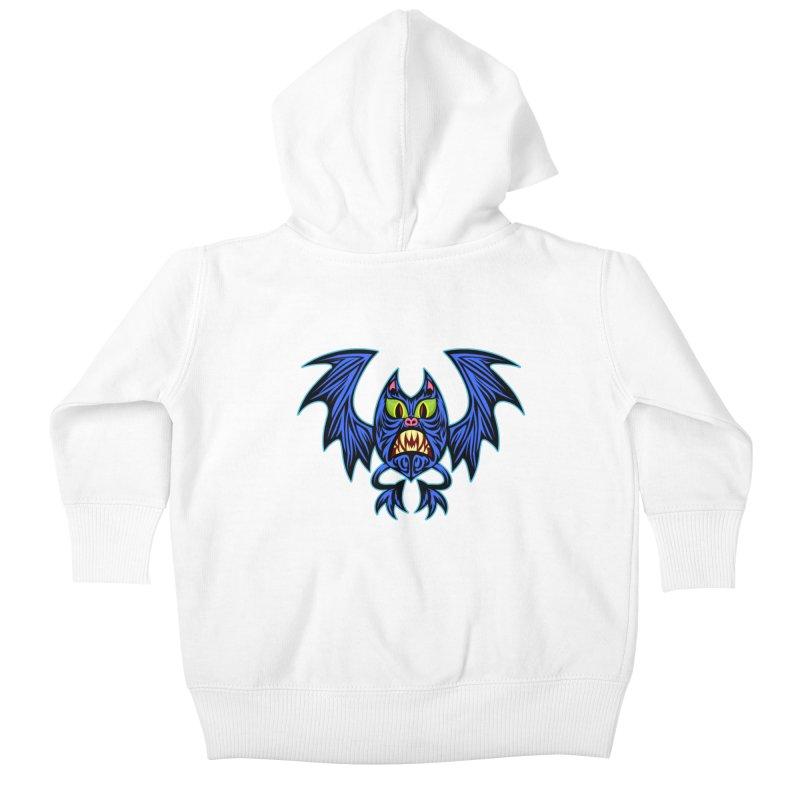 Screaming Bat Kids Baby Zip-Up Hoody by SavageMonsters's Artist Shop