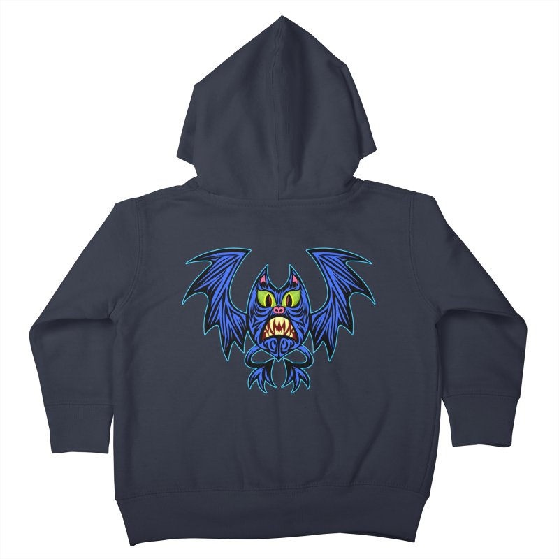 Screaming Bat Kids Toddler Zip-Up Hoody by SavageMonsters's Artist Shop