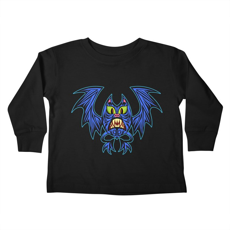 Screaming Bat Kids Toddler Longsleeve T-Shirt by SavageMonsters's Artist Shop