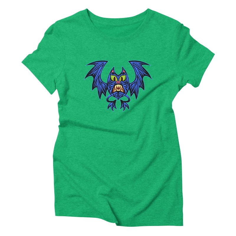 Screaming Bat Women's Triblend T-Shirt by SavageMonsters's Artist Shop