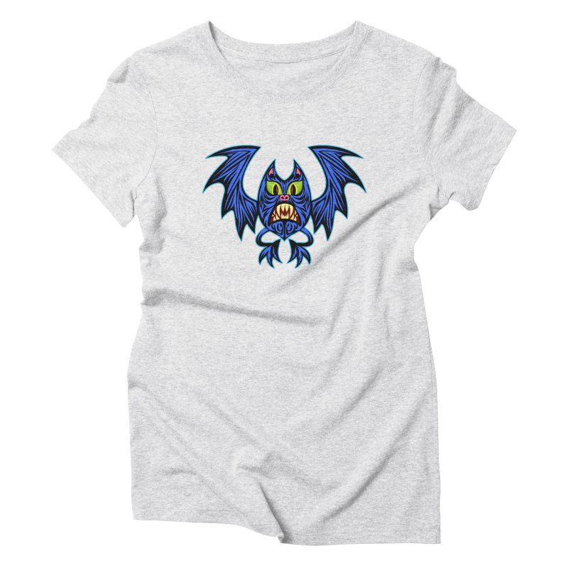 Screaming Bat Women's Triblend T-Shirt by SavageMonsters's Artist Shop
