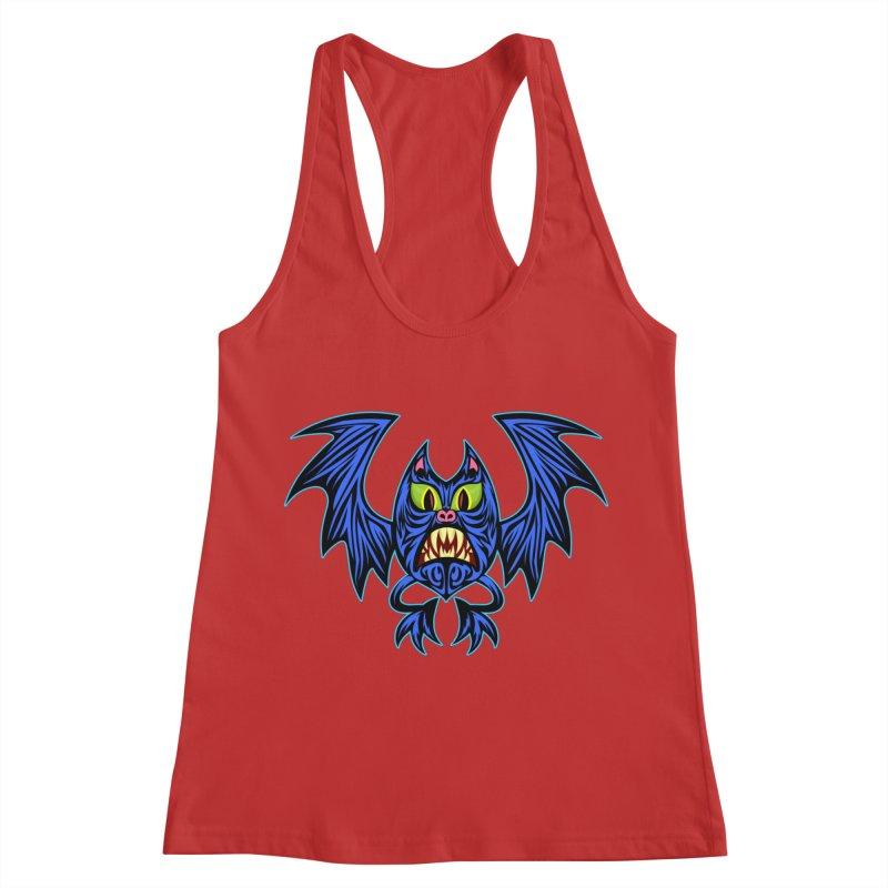 Screaming Bat Women's Racerback Tank by SavageMonsters's Artist Shop