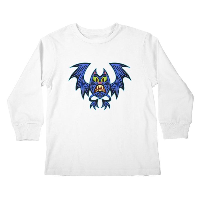 Screaming Bat Kids Longsleeve T-Shirt by SavageMonsters's Artist Shop