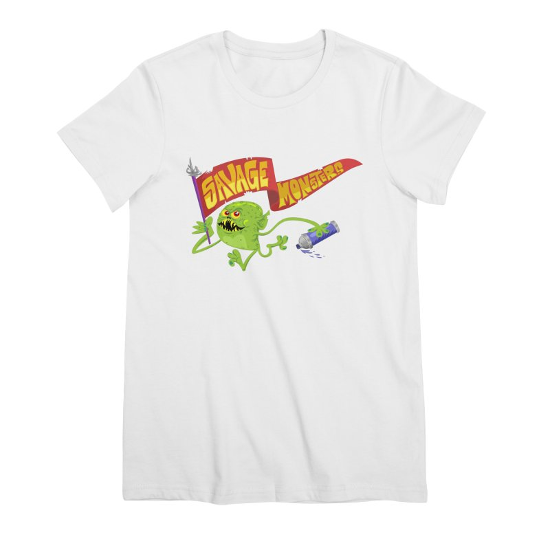 Clarence with Banner Women's Premium T-Shirt by SavageMonsters's Artist Shop