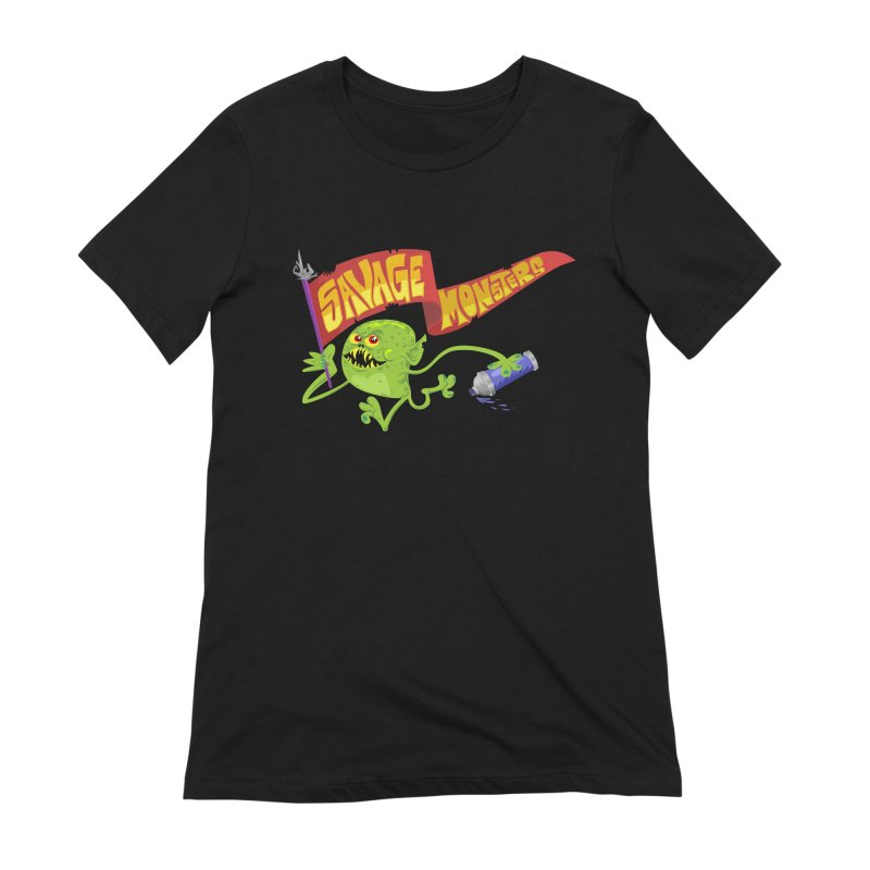 Clarence with Banner Women's Extra Soft T-Shirt by SavageMonsters's Artist Shop