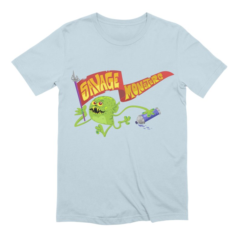 Clarence with Banner Men's Extra Soft T-Shirt by SavageMonsters's Artist Shop