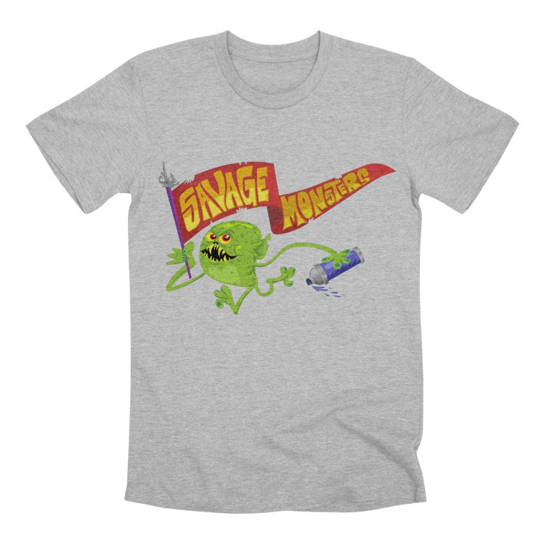 Clarence with Banner Men's Premium T-Shirt by SavageMonsters's Artist Shop
