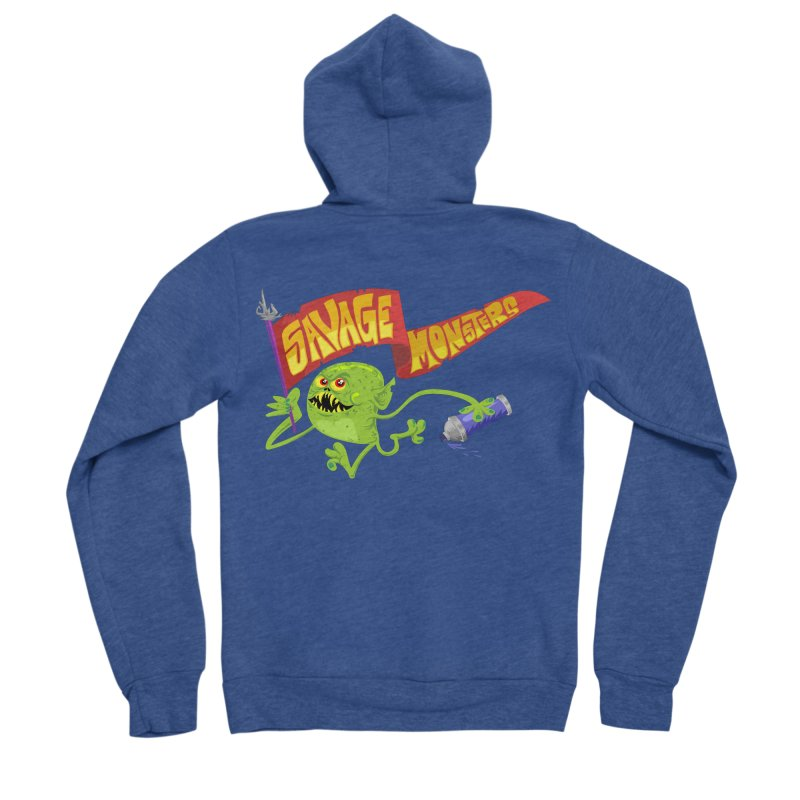Clarence with Banner Men's Sponge Fleece Zip-Up Hoody by SavageMonsters's Artist Shop
