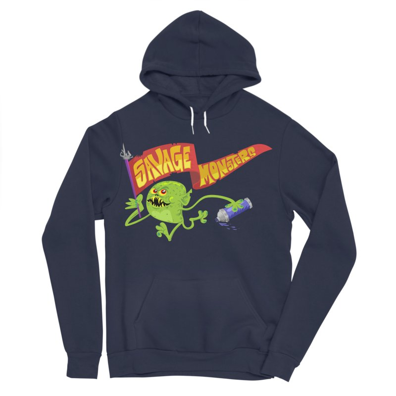Clarence with Banner Men's Sponge Fleece Pullover Hoody by SavageMonsters's Artist Shop