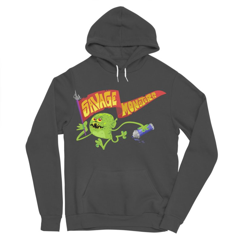 Clarence with Banner Women's Sponge Fleece Pullover Hoody by SavageMonsters's Artist Shop